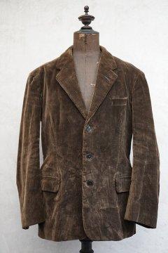 cir.1940's brown corduroy lapeled jacket