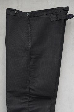 ~1940's striped moleskin work trousers dead stock