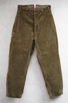 1930's brown corduroy work trousers