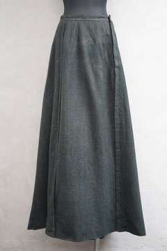 late 19th c. checked wool long skirt