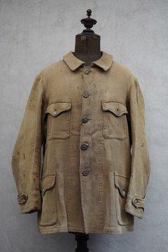 1930's-1940's beige pique hunting jacket boro
