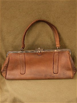 1900's leather bag