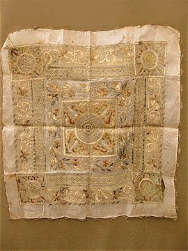 cir. late 19 c. embroidered cloth
