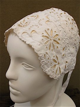 cutwork bonnet