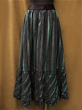 Victorian stripe long skirt