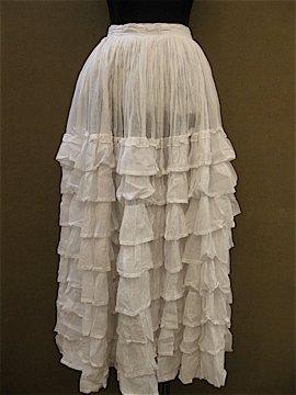 cir.1850's-1860's frill underskirt