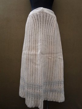 cir. early 20th c. cotton knitted skirt