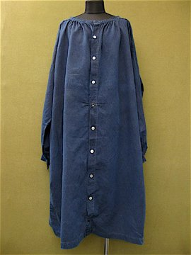 late 19th c. indigo smock