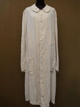 cir. 1920's linen driving coat