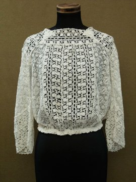 cir. 1900's-1910's  lace blouse