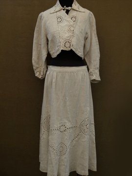 early 20th c. linen jacket & skirt