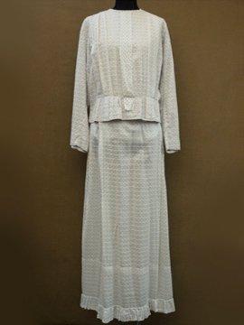 cir.1910's flower printed jacket and skirt