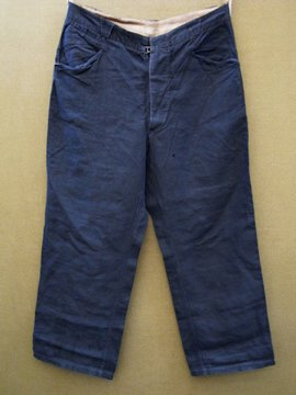 French linen work trousers