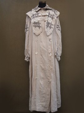 cir. 1900 - 1920's linen driving coat