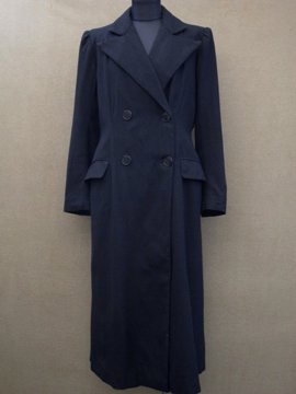 1940's black wool coat