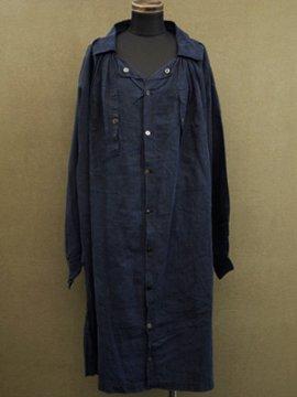 cir. 1900's indigo linen smock