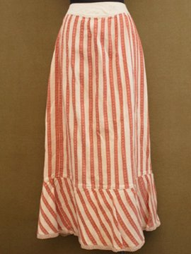 late 19th - early 20th c. striped skirt