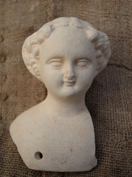 1860 - 1890's bisque doll head 1