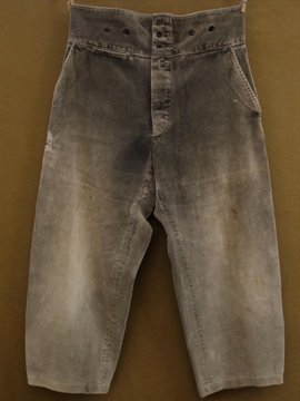cir. mid 20th c. cord work trousers