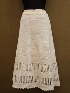 early 20th c. knitted skirt