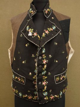 19th - early 20th c. embroidered vest
