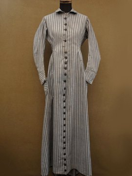 19th c. striped cotton dress