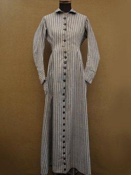 19th c. striped cotton dress