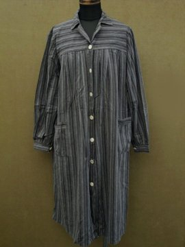 cir. 1930 - 1940's striped work coat
