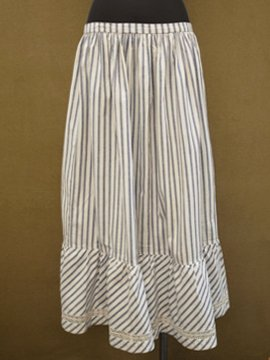 cir. early 20th c. striped skirt