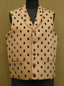 early 20th c. brown × beige vest