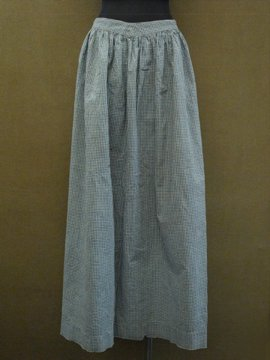 late 19th c. indigo check apron