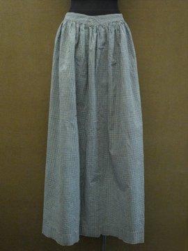 late 19th c. indigo check apron