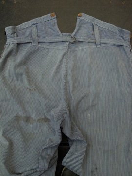 cir.1930 - 1950's stripped work pants