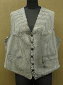 cir. 1930 - 1940's striped cotton gilet