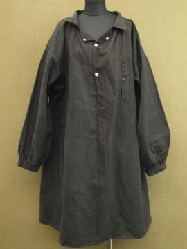 cir. early 20th c. black work smock