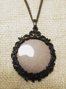 19th c. black metal necklace