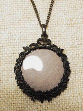 19th c. black metal necklace