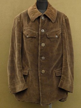 cir. 1930's cord hunting jacket