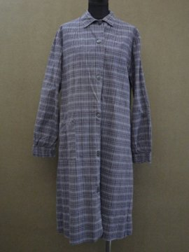 cir. 1940 - 1950's cotton work coat / dress