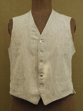 cir. early 20th c. striped gilet