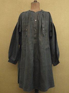 19th c. indigo linen smock