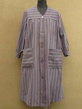 cir. 1940 - 1950's striped work coat / dress