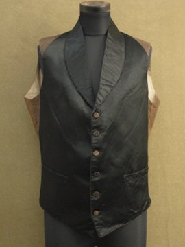 early 20th c. black silk gilet