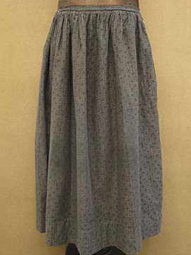 early 20th c. printed cotton skirt