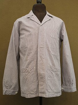 cir. mid 20th c. houndstooth check cotton work jacket