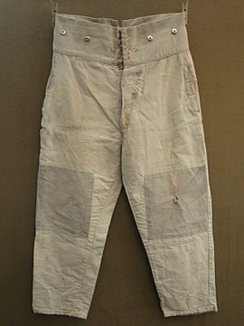 cir. 1930 - 1940's cotton work trousers