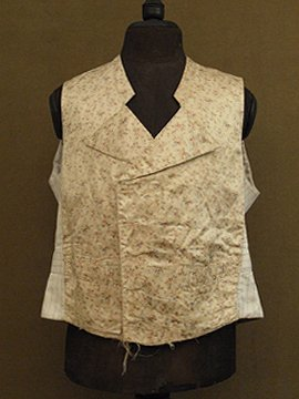 late 19th - early 20th c. silk × cotton gilet
