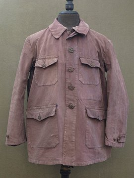 cir. mid 20th c. brown cotton canvas hunting jacket