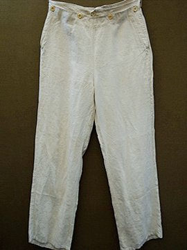 1930 - 1940's linen sailor trousers