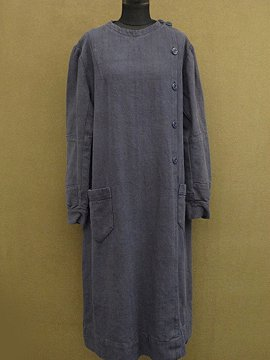 cir.1930 - 1940's linen × cotton work smock